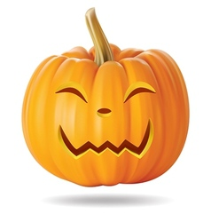Happy pumpkin vector