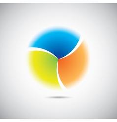 Modern colorful geometrical circle vector