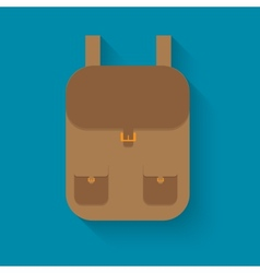 Backpack in style flat vector