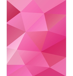 Pink abstract triangles vector