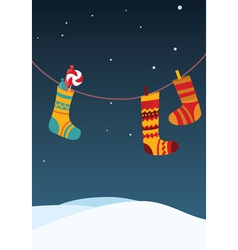 Christmas stocking invitation vector