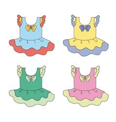 Cartoon apparel set vector