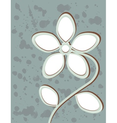 Abstract flower with space for text vector