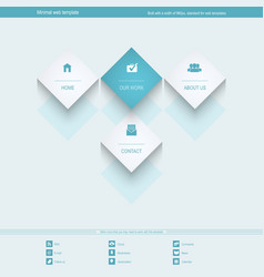 Minimal web template for corporate or portfolio vector