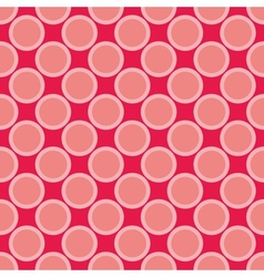Seamless red pattern with big pastel pink dots vector