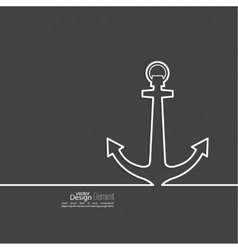 Abstract background with an anchor vector