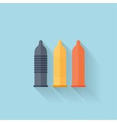 Flat web internet icon colored condoms vector