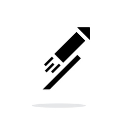 Festive rocket simple icon on white background vector