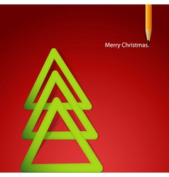 Christmas triangular tree vector
