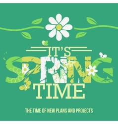 Spring time typographic poster vector
