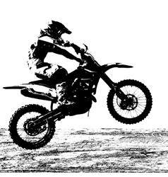 Rider participates motocross championship vector