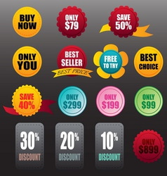 Labels stickers business vector