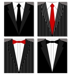 Set of suits vector