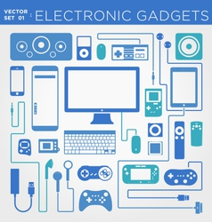 Electronic gadgets vector