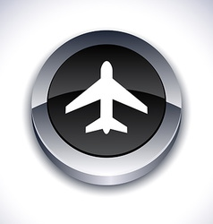 Aircraft 3d button vector