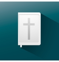 Bible flat icon with long shadow vector