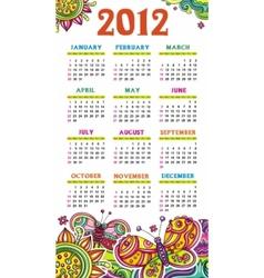 Calendar butterfly 2012 vector