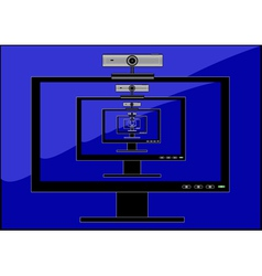 Monitor web camera vector