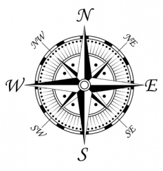 Compass symbol vector