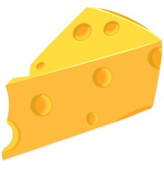 Piece of cheese vector
