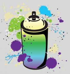 Grafitti spray can vector