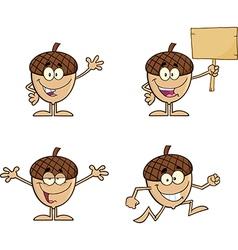 Cartoon acorn design vector