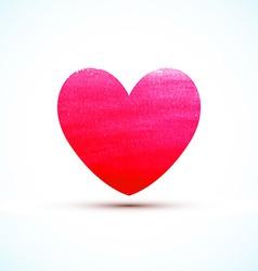 Watercolor paint heart vector