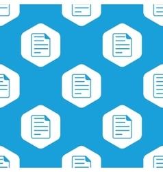 Document hexagon pattern vector