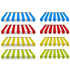 Colored awnings set vector