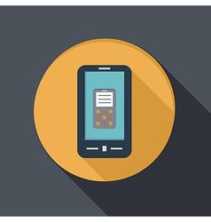 Paper flat icon smartphone vector