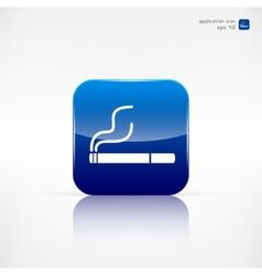 Smoking sign cigarette icon vector