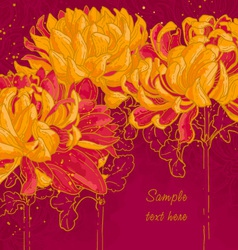 Background with chrysanthemum vector