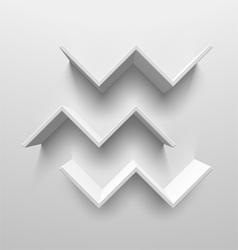 White birds shelves vector