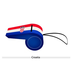 A whistle of the republic of croatia vector
