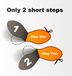 Imprint short steps vector