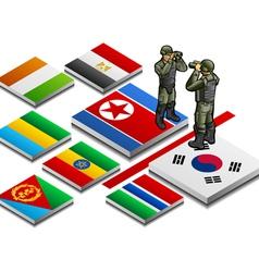 Isometric representation of militarized border vector