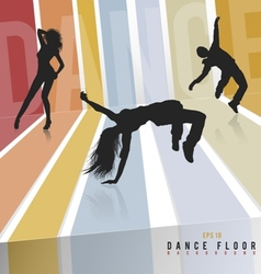 Retro dance floor vector