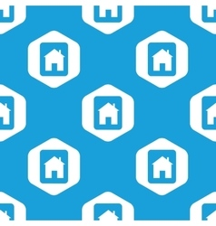 House sign hexagon pattern vector