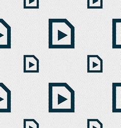 Play icon sign seamless pattern with geometric vector