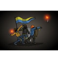 Ukrainian revolution vector