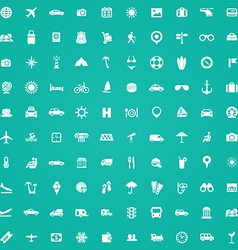 100 travel icons vector