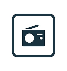 Radio icon rounded squares button vector