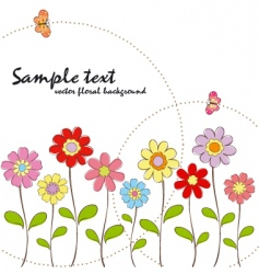 Spring summer floral wallpaper vector