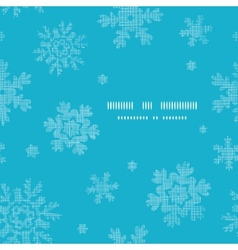 Blue lace snowflakes textile template frame vector