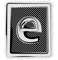 Polka dot font letter e vector