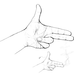 Fingers shoot vector