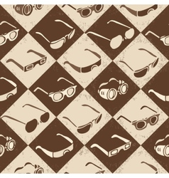 Glasses sunglasses and 3d-glasses seamless vector
