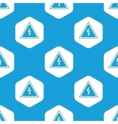 High voltage hexagon pattern vector