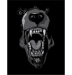 T-shirt design with raging bear vector