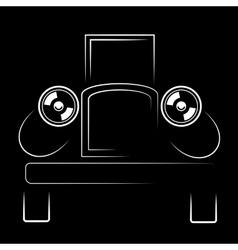 Vehicle retro silhouette vector